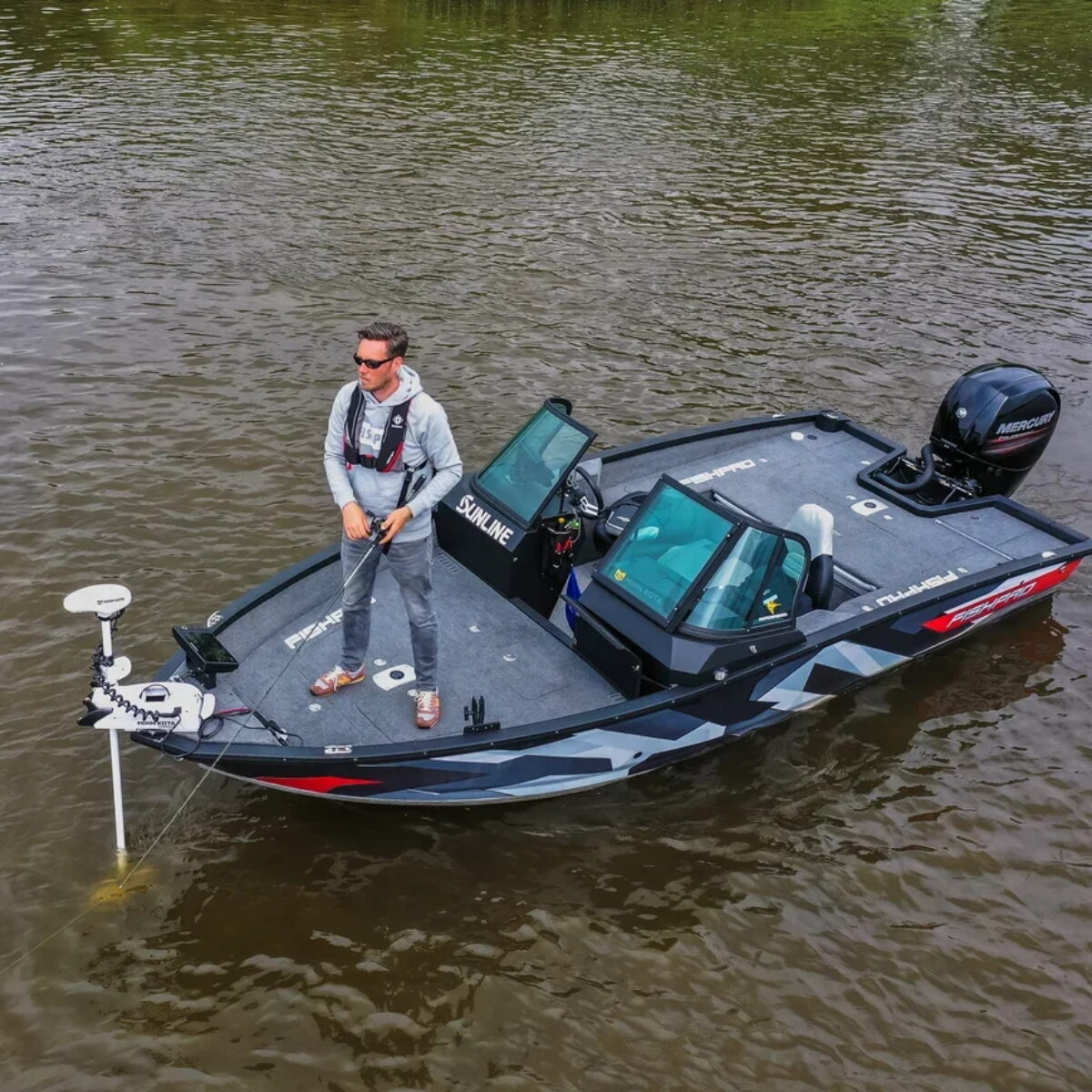 FishPro X7 Mercury 150HK Kastedekk