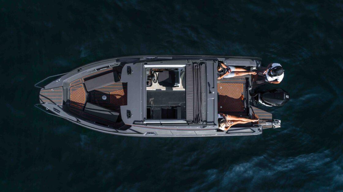 Nordkapp RS 800c med Mercury dronefoto Stokken Båt
