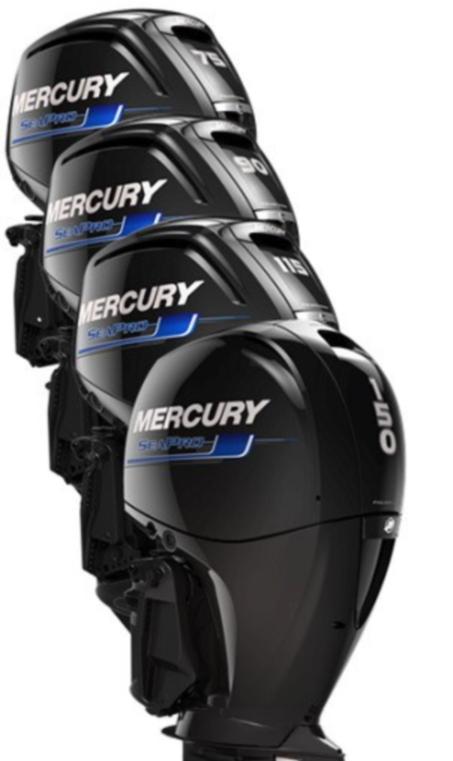 mercury seapro 75hk, 90hk, 115hk, 150hk stokken båt